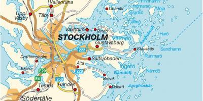 kart ikea sverige Stockholm kart   Kart Stockholm (Södermanland og Uppland, Sverige) kart ikea sverige