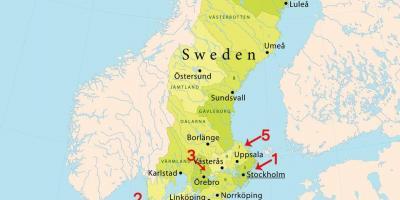 Stockholm Kart Kart Stockholm Sodermanland Og Uppland Sverige